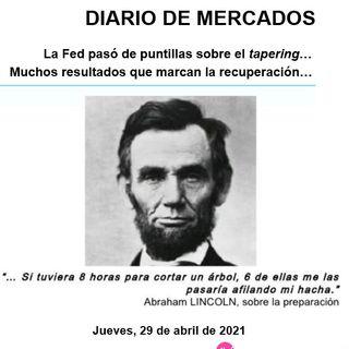 DIARIO DE MERCADOS Jueves 29 Abril