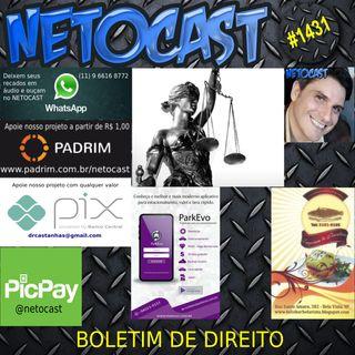 NETOCAST 1431 DE 15/06/2021 - BOLETIM DE DIREITO