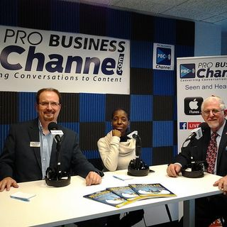 LinkedIn Guy Gregg Burkhalter and the Roku Girl C.F. Jackson with iDefine TV on Buckhead Business Show