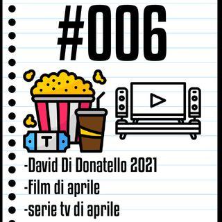 #006 Il Cinefilo Podcast: Nomination David Di Donatello 2021, road to Oscar e film e serie tv in uscita ad aprile