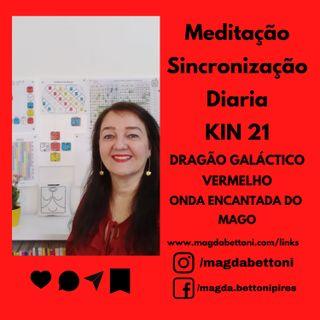 MEDITAÇÃO DE SINCRONIZAÇÃO - KIN 21- Dragão Galáctico Vermelho