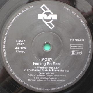 Moby - Feel So Real (Westbam Remix)
