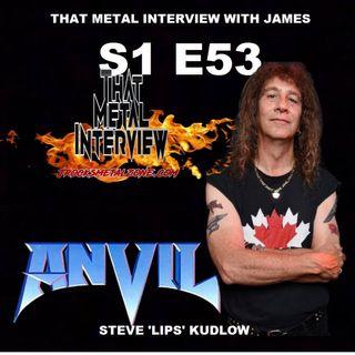 Steve 'Lips' Kudlow of ANVIL S1 E53