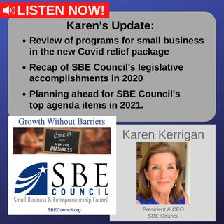 Covid relief package, SBE Council's 2020 legislative accomplishments & top agenda items in 2021.