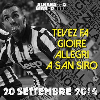 20 settembre 2014 - Tevez fa gioire Allegri a San Siro
