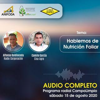 Programa CampoLimpio 15 de agosto (nutrición foliar)