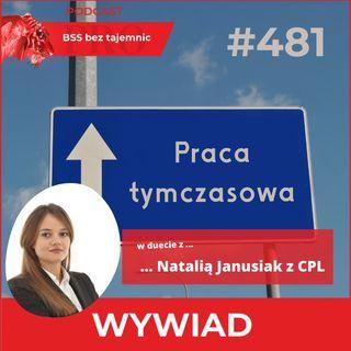 #481 Praca tymczasowa w białych kołnierzykach - w rozmowie w Natalią Janusiak z CPL