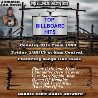 Top Billboard Country Music Hits from 1993 1-25-19