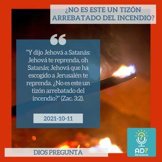 11 de octubre - ¿No es este un tizón arrebatado del incendio? - Devocional de Jóvenes - Etiquetas Para Reflexionar
