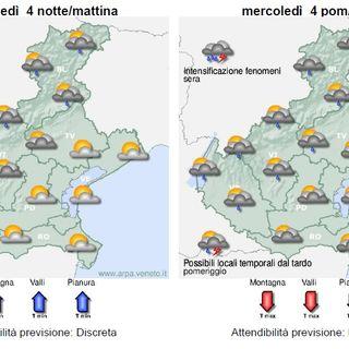 Previsioni meteo 3-6 agosto: instabilità marcata e diffusa, fino a venerdì