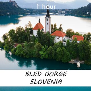 Bled Gorge, Slovenia | 1 hour RIVER Sound Podcast | White Noise | ASMR sounds for deep Sleep | Relax | Meditation | Colicky