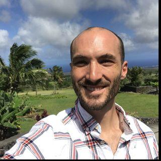 Comics Journalist Andy Warner in Hawaii Volcanoes National Park