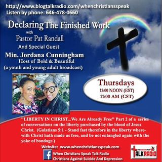 LIBERTY IN CHRIST PT 2 (REPLAY) ON DECLARING THE FINISHED WORK