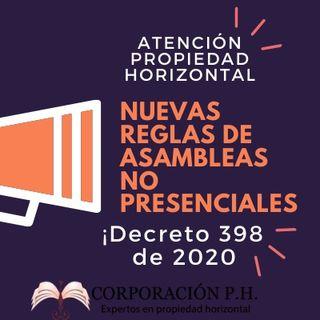 Las asambleas no presenciales en la propiedad horizontal NUEVAS REGLAS Covid-19