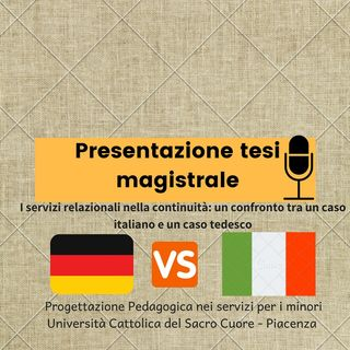 Presentazione tesi magistrale Puntata 08
