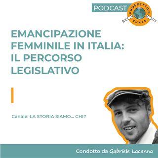 Emancipazione femminile in Italia: il percorso legislativo