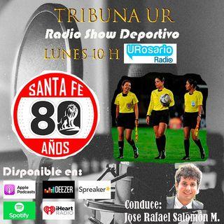 Primer cuarteto arbitral femenino en el fútbol colombiano y el 'León' llegó a sus 80 años