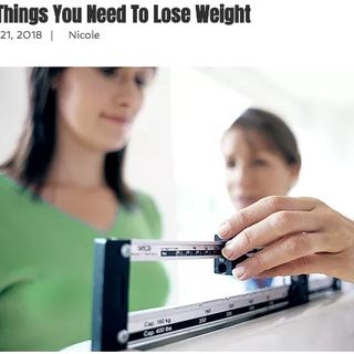 The Top Ten Things You Need To Lose Weight