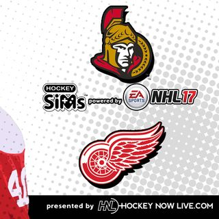 Senators vs Red Wings (NHL 17 Hockey Sims)