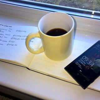 Planning at my window. #OneNote