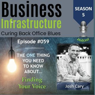 Episode 59: The One Thing You Need to Know About Finding Your Voice – Josh Cary