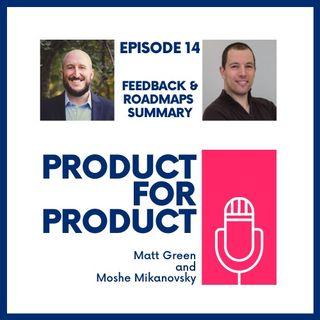 EP 14 - Feedback & Roadmaps Wrap Up with Matt & Moshe
