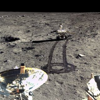 Chinese Rover on the Moon
