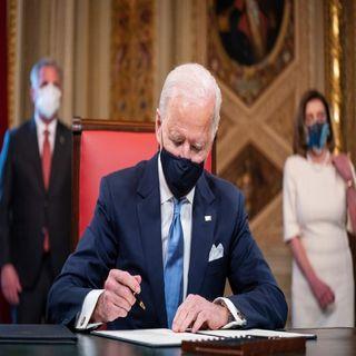 El presidente estadounidense, Joe Biden, firmó decreto para detener la construcción del muro