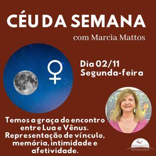 Céu da Semana - Segunda, dia 02/11: Temos a graça do encontro entre Lua e Vênus.