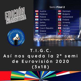T.I.G.C. Así nos queda la 2ª semi de Eurovisión 2020 (3x18)