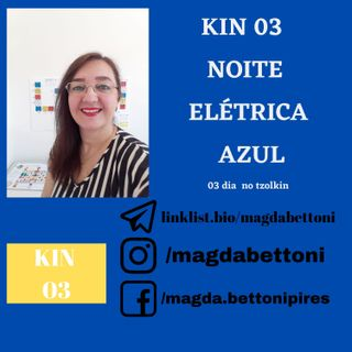 KIN 3  NOITE ELÉTRICA  AZUL - 1ª Onda Encantada do Tzolkin