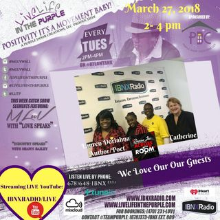 Live Life In The Purple with MLUV-Guests-Author/Poet Lauren Doriahana and Indie Artist Danae Joi
