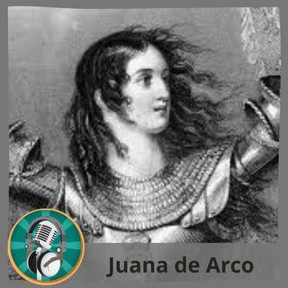 Isabella Camblor con Juana de Arco