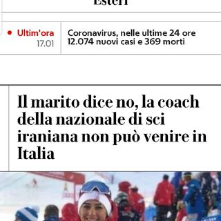 Episodio 55 - il marito ha vietato alla coach di sci della nazionale iraniani di venire in italia