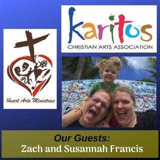 Zach and Susannah Francis from Karitos and 1Heart Arts