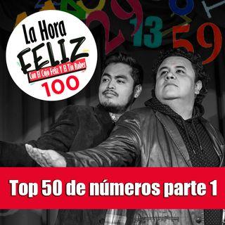 La Hora Feliz 100: Top 50 de números