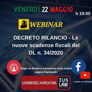 DECRETO RILANCIO - Le nuove scadenze fiscali del DL n. 34:2020 - Speciale IusLaw