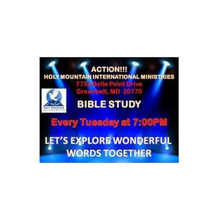 Bible Study 15 September 2015 at Holy Mountain International Ministries