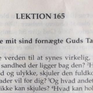 Lektion 165. Et kursus i mirakler.