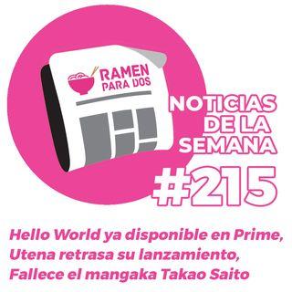 215. Hello World ya disponible en Amazon , Utena Edición Integral retrasa su lanzamiento