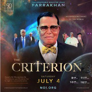 The Criterion Minister Louis Farrakhan