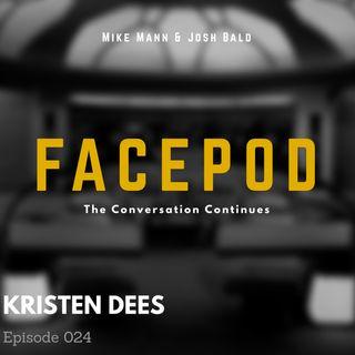 Episode 024 - Kristen Dees has compromising photos of you in Snoopy footie jammies.