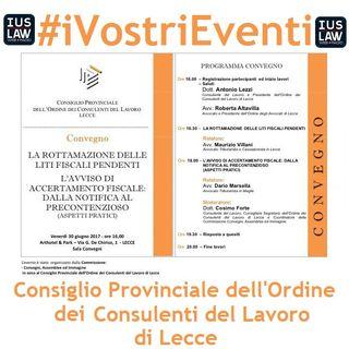 La Rottamazioni delle Liti Fiscali Pendenti - 30 Giugno 2017, Lecce