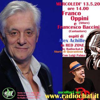 Franco Oppini e Francesco Baccini ospiti di Alex Achille in RED ZONE by Radiochat.it