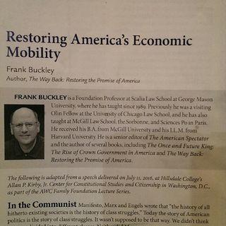 Story Time Episode Eleven - Imprimis: Restoring America's Economic Mobility