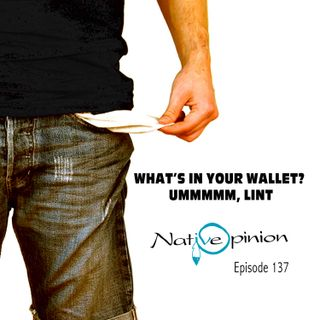 WHAT'S IN YOUR WALLET? UMMMMM, LINT