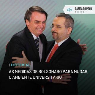 Editorial: As medidas de Bolsonaro para mudar o ambiente universitário