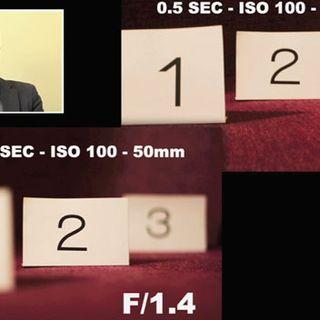 Video corso di Fotografia Digitale - 4 - Diaframma e profondità di campo