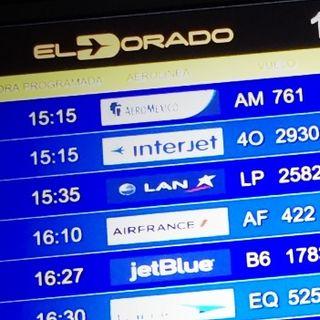 Aeropuerto ElDorado con micrófono en estéreo y en mono