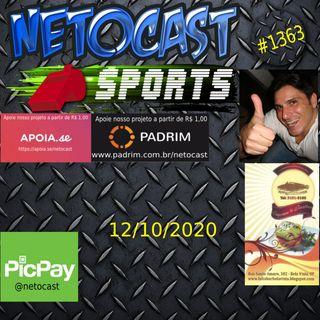 NETOCAST 1363 DE 12/10/2020 - ESPORTES - TÊNIS - FUTEBOL - F1